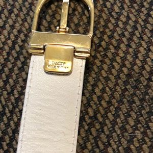 Bally Accessories - Bally White Leather with Gold buckle belt